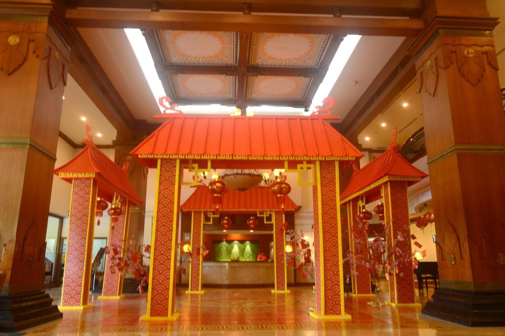 Dekorasi Lobby Imlek The Sunan Hotel Solo