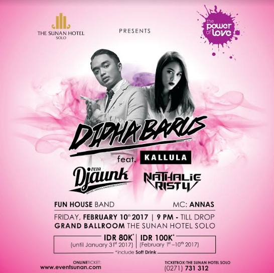 Dipha Barus feat Kallula at The Sunan Hotel Solo