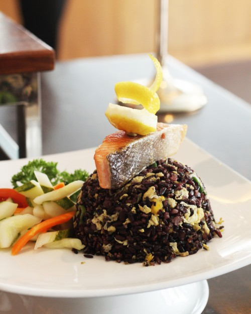 Black Rice with Salmon