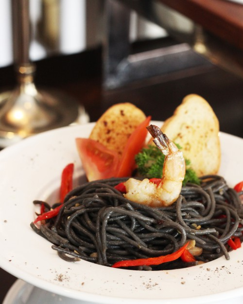 Exotic Black Pasta with Prawn