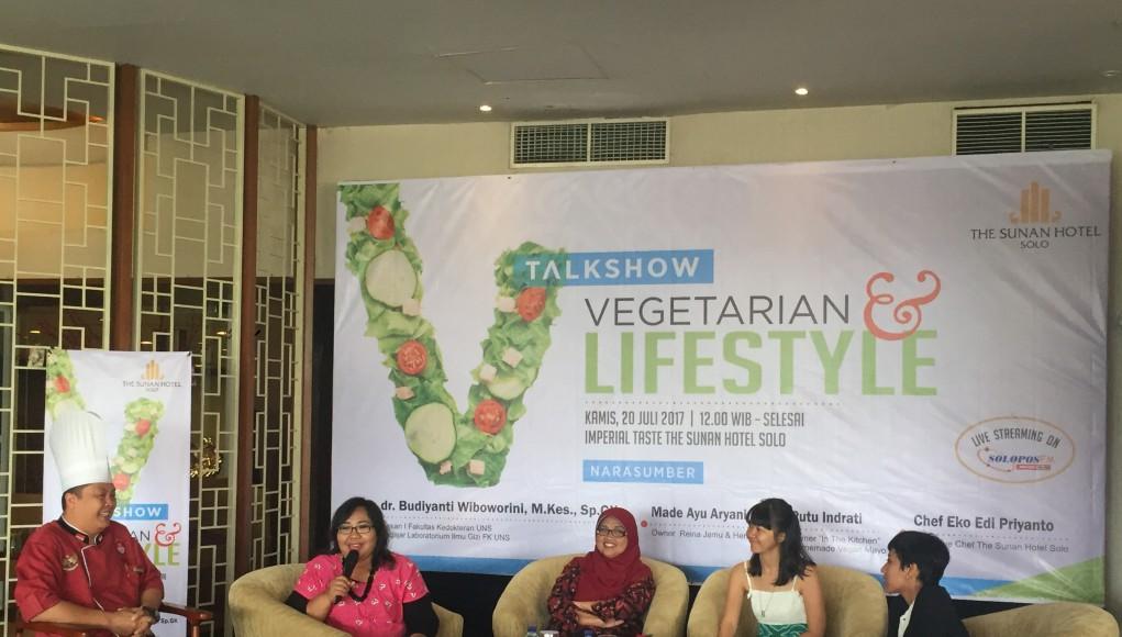 Talkshow vegetarian the sunan hotel